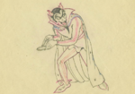 Devil drawing