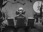 Skeleton skull and crossbones