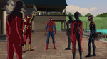 Ultimate Spider-Man - 4x25 - Graduation Day, Part One - Scarlet Spider, Iron Spider, Spider-Man, Agent Venom, Ultimate Spider-Woman and Miles Morales
