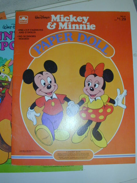 Mickey & Minnie Paper Doll