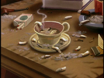 Cigarettes in a coffee cup