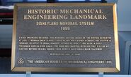 Historical Disney Monorail Plaque