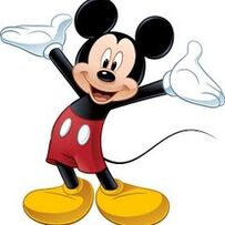 Micky Maus freut sich