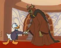 Donald saluda ReyMal