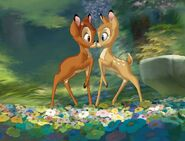 Bambi and Faline in the sequel