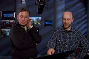 Dan Scanlon supervising Joel Murray's recording session MU