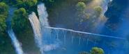 Zootopia Rainforest District waterfalls