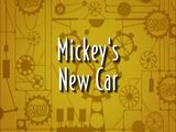 Mickey's New Car