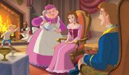 Belle with servants