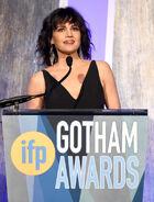 Carla Gugino speaks at Gotham Awards