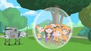 Kids Get In Bubble