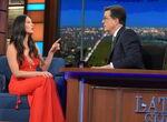 Olivia Munn visits Stephen Colbert