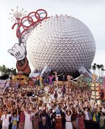 Epcot Millennium Celebration POstcard