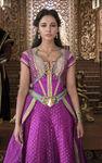 Jasmine in magenta dress