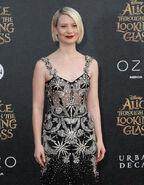 Mia Wasikowska Alice Looking Glass premiere