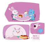 Pancake Milkshake art