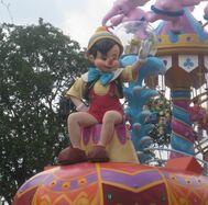Pinocchio in Festival of Fantasy parade