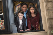 Raven's Home - 2x01 - The Falcon and The Raven – Part One - Photography - Booker, Levi and Nia