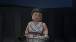 Sad Rey looking at Ben - The LEGO Star Wars Holiday Special