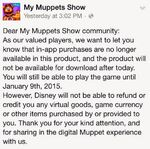 My Muppets Show -Message