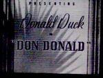 Rare Don Donald Original Title Card