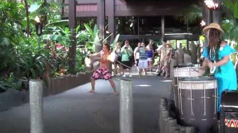 Disney's Polynesian Torch Lighting Ceremony
