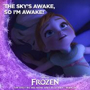 The Sky's Awake So I'm Awake Frozen Poster
