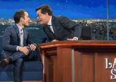 Elijah Wood visits Stephen Colbert