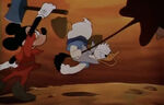Mickey Mouse Snatched the axe from Donald Duck
