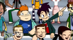 The Three Mascot-teers - Howard and Randy