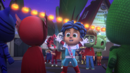 Cameron and the other kids meet the PJ Masks