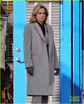 Kristin Bauer Van Straten on the set of Once Upon a Time