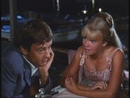 Peter McEnery at dinner with Hayley Mills