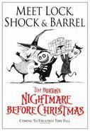 The Nightmare Before Christmas Lock, Shock & Barrel Poster
