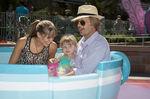 David Spade Jillian Grace & daughter Harper Mad Tea Party Disneyland