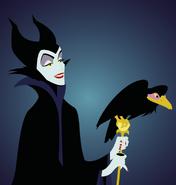 Maleficent and Diablo Artwork