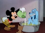 Mickey and pluto in hot water