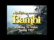 Bambi - 1997 VHS Trailer-2