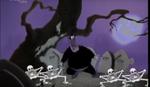 Pete leaving the Skeleton dance