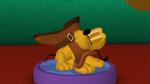 Puppy Pluto stinky shoe
