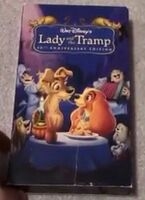 Tmp 865- Disney's Lady and the Tramp Platinum Edition VHS-705640850