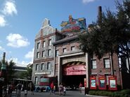 Studio Backlot Tour marquee and entrance