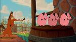Buck teaches the Piggies karate