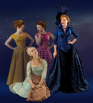 Cinderella with stepmother and stepsisters