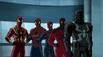 Ultimate Spider-Man - 4x05 - Lizards - Iron Spider, Spider-Man, Miles Morales, Scarlet Spider and Agent Venom
