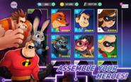 Disney Heroes: Battle Mode roster