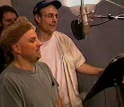 Bobcat Goldthwait & Matt Frewer behind the scenes Hercules.jpg