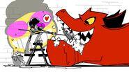 Moon Girl and Devil Dinosaur sketch