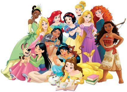 12 of the disney princesses