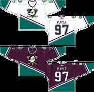 Mighty Ducks 1993 original jerseys